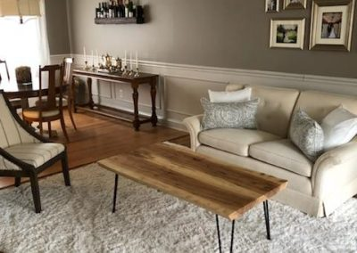 Ambrosia Maple Coffee Table with hair pin legs