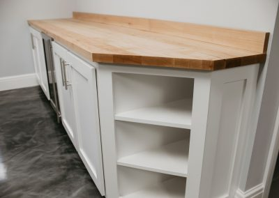 Custom Cabinets with Maple Butcher Block Top